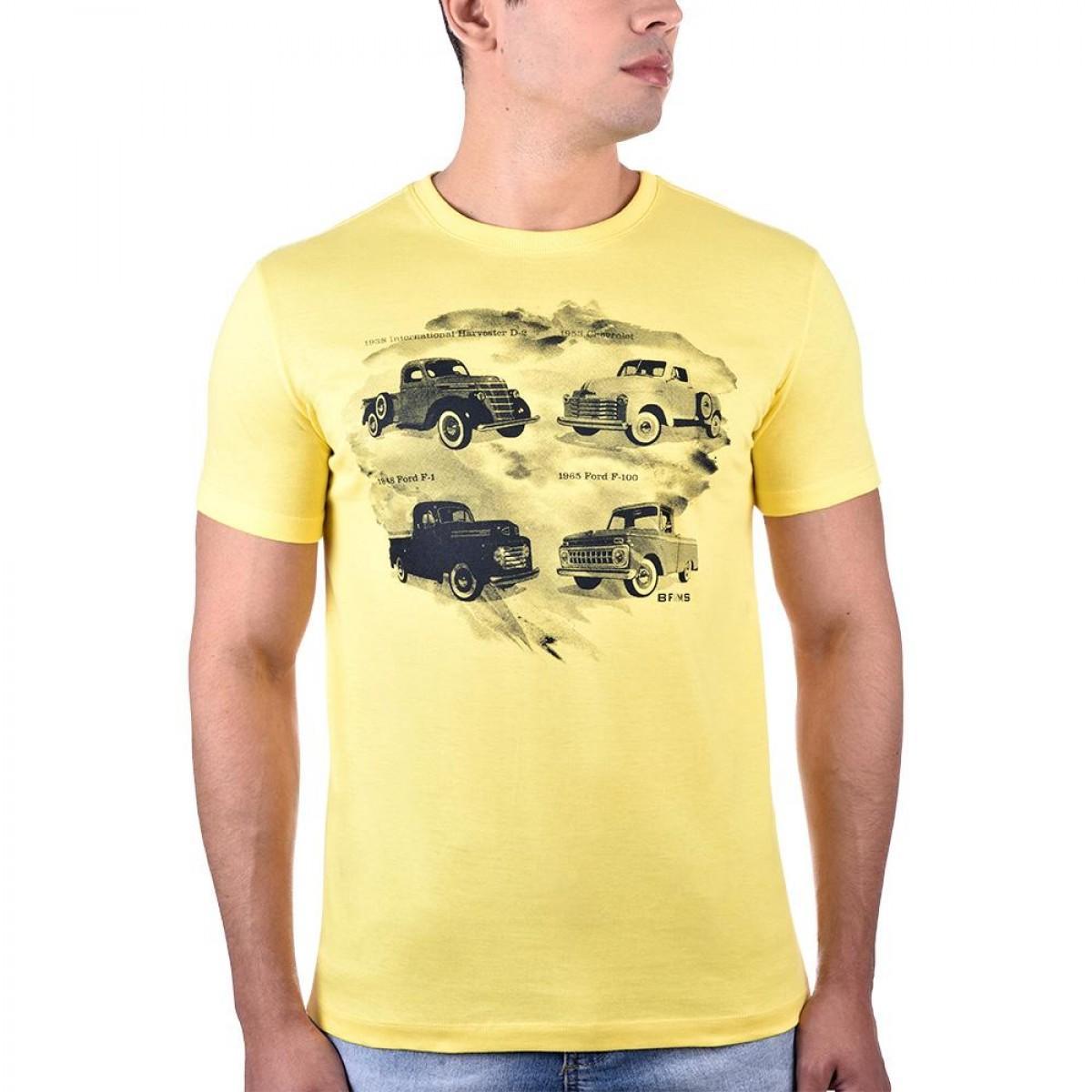 854eb4c10 Camiseta Picapes Amarela - BF   MS