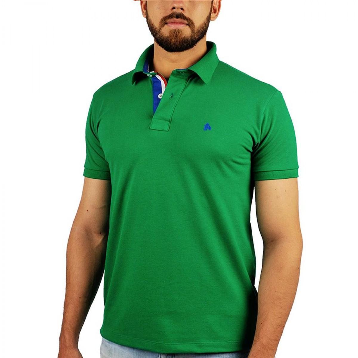 85356f99e8d12 Camisa Polo BF   MS Verde Bandeira