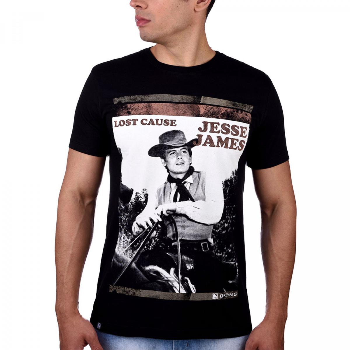 8ff75249a Camiseta Jesse James Preta - BF   MS