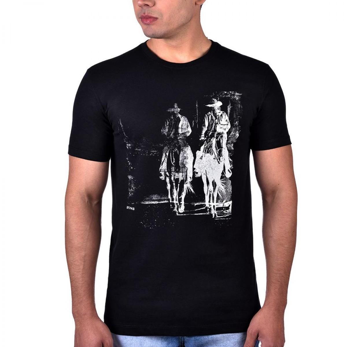 2128f1267 Camiseta Cavaleiros Preta - BF   MS