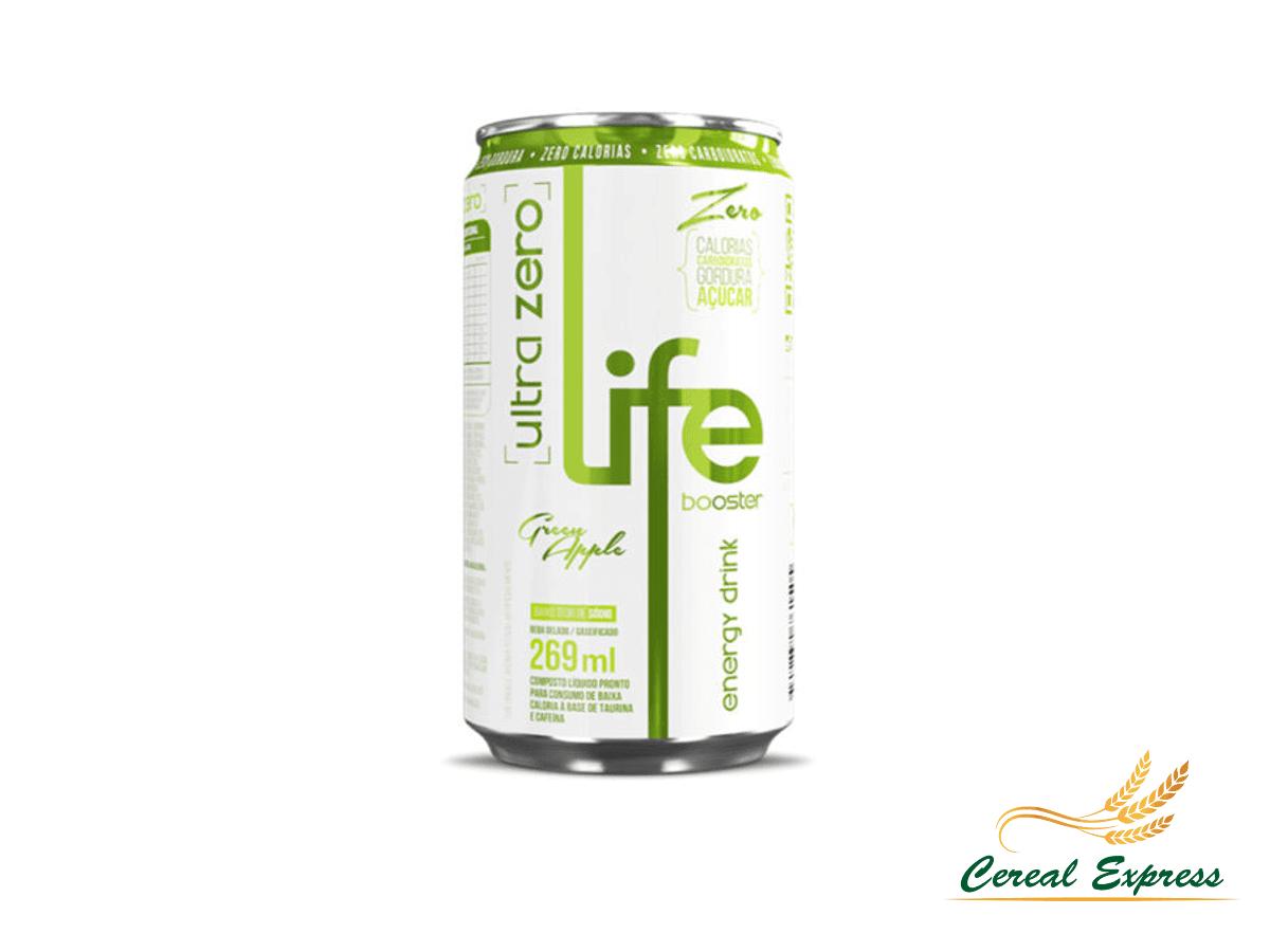 Life Booster Energy Drink Ultra Zero Maçã Verde
