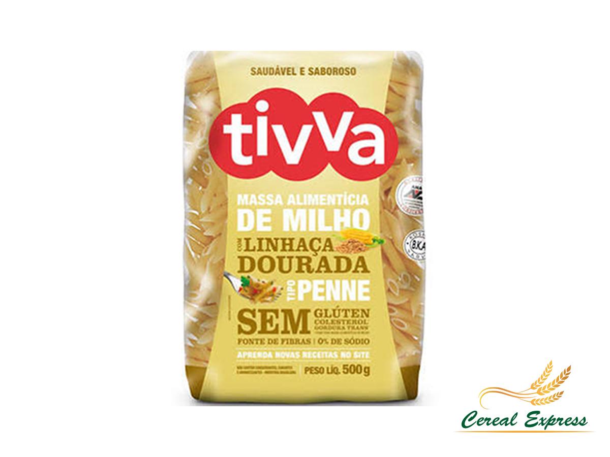 Macarrão Penne de Milho com Linhaça Dourada 500g Tivva