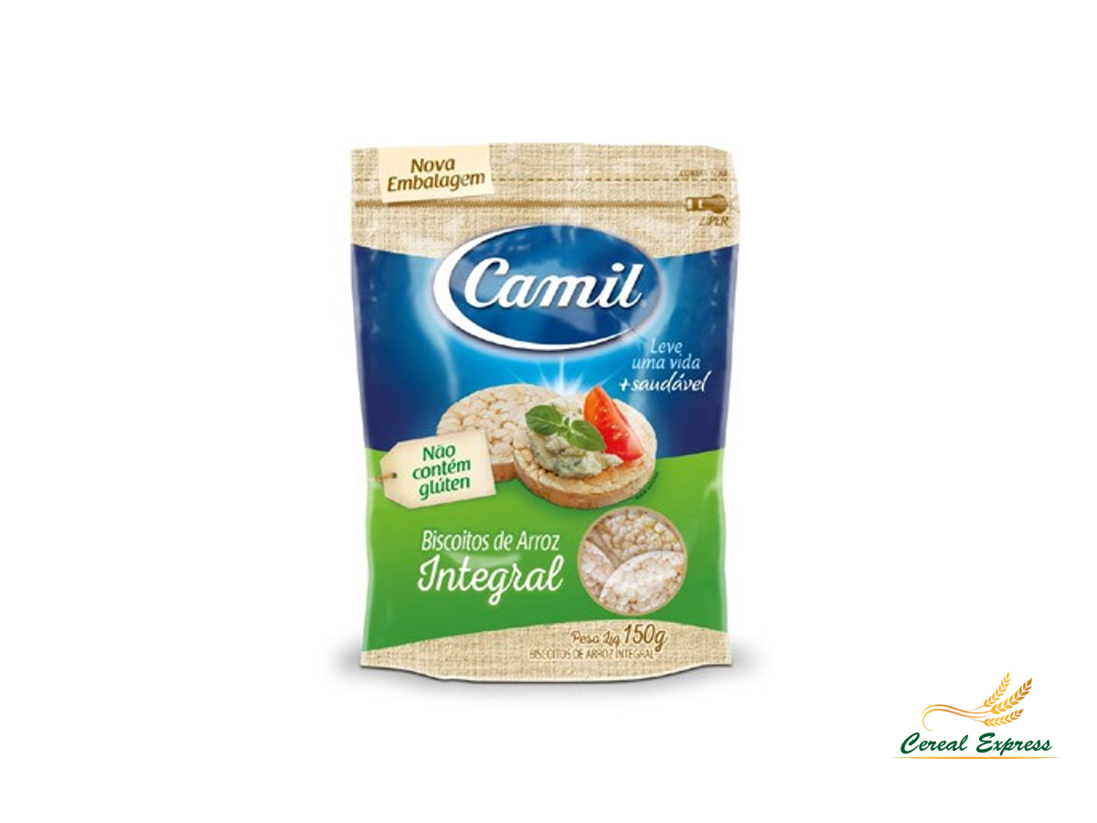Mini Biscoito de Arroz Integral - 150g Camil