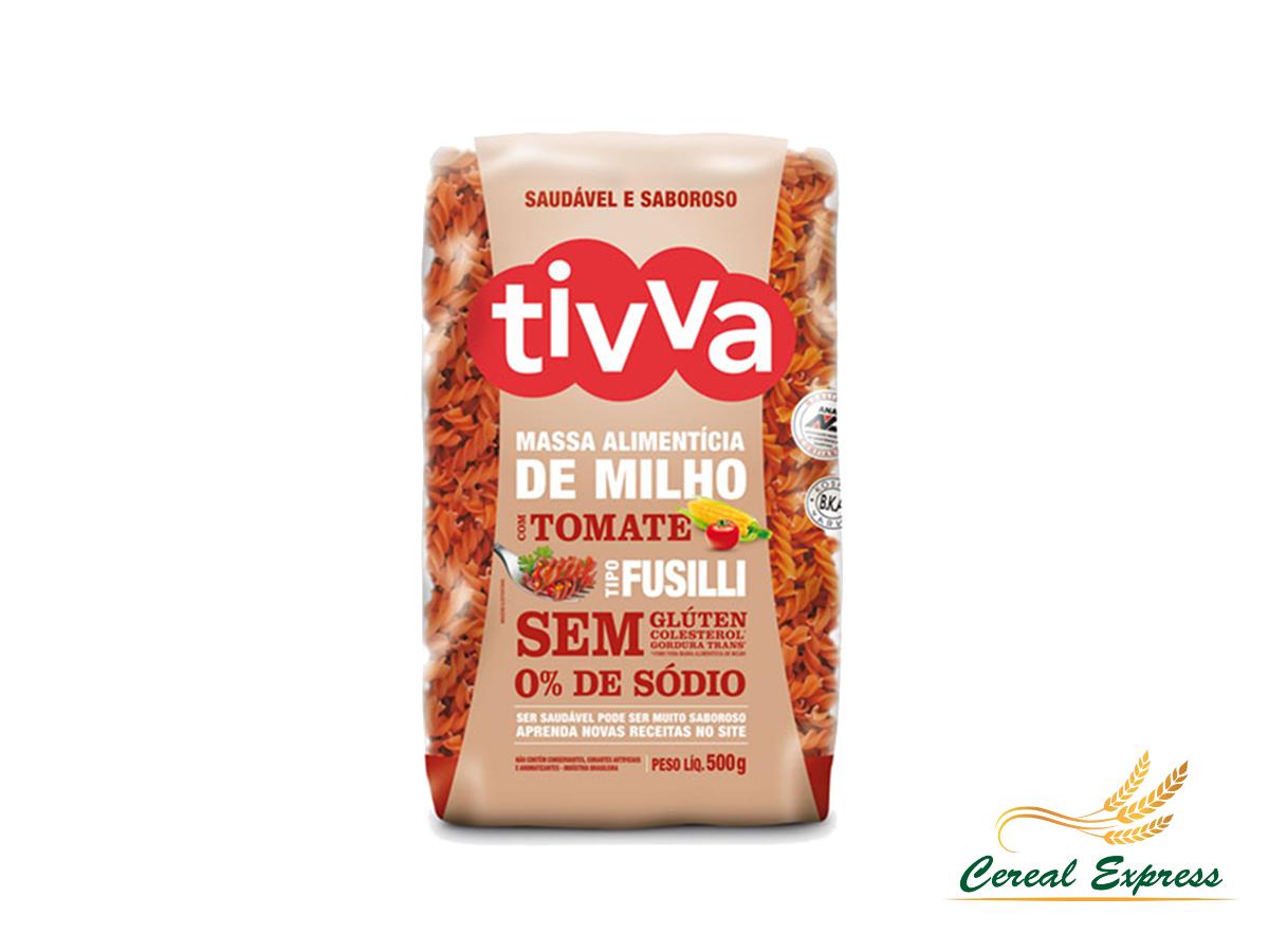 Macarrão Fusilli de Milho com Tomate Sem Glúten 500g Tivva
