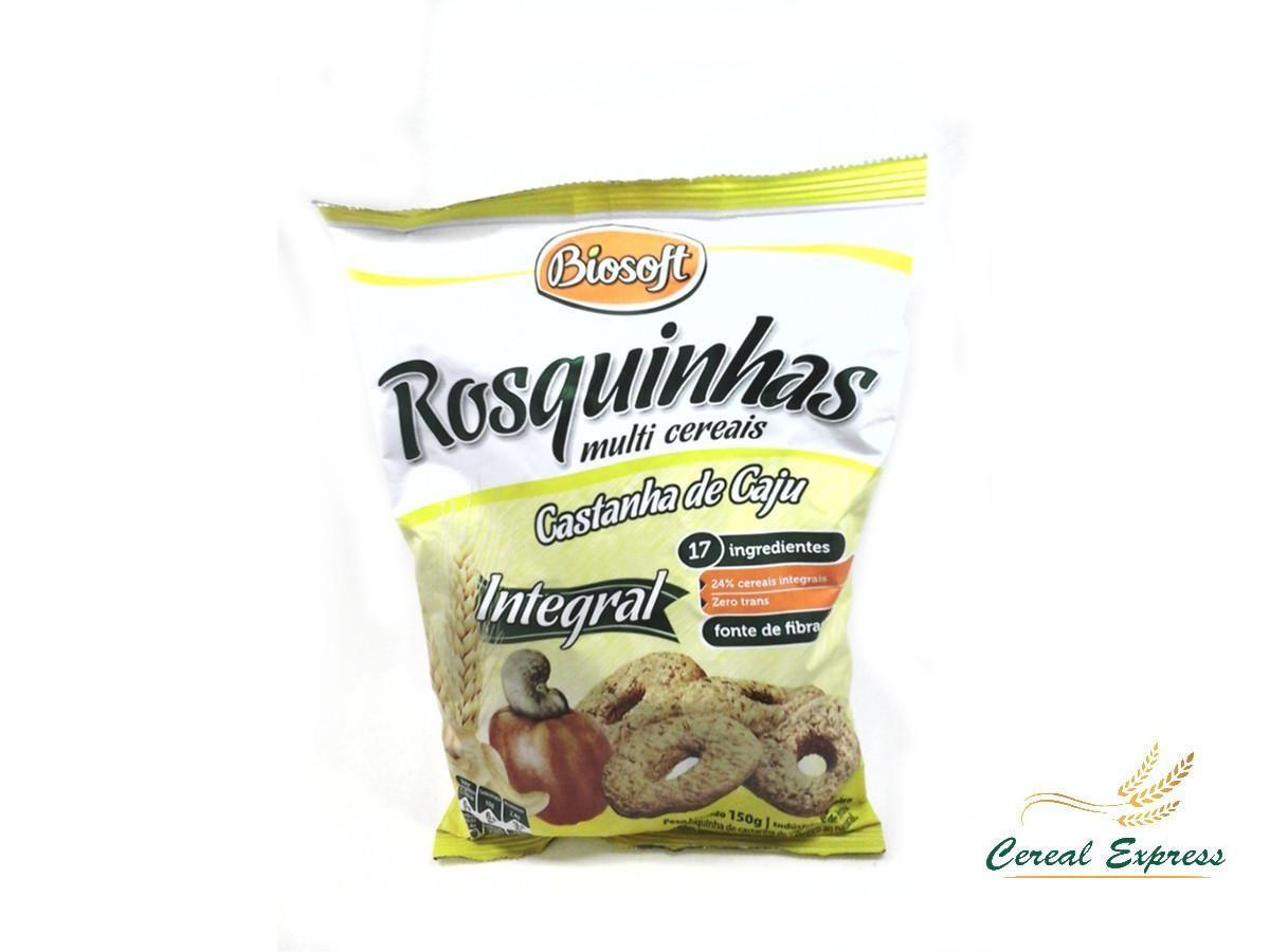 ROSQUINHA MULTICEREAIS CASTANHA DE CAJU 150G