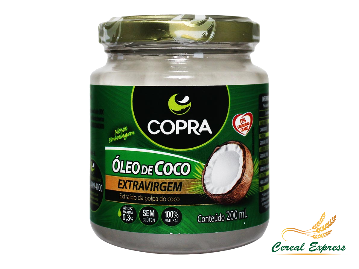 Óleo de Coco Copra Extra Virgem in Natura 200ml
