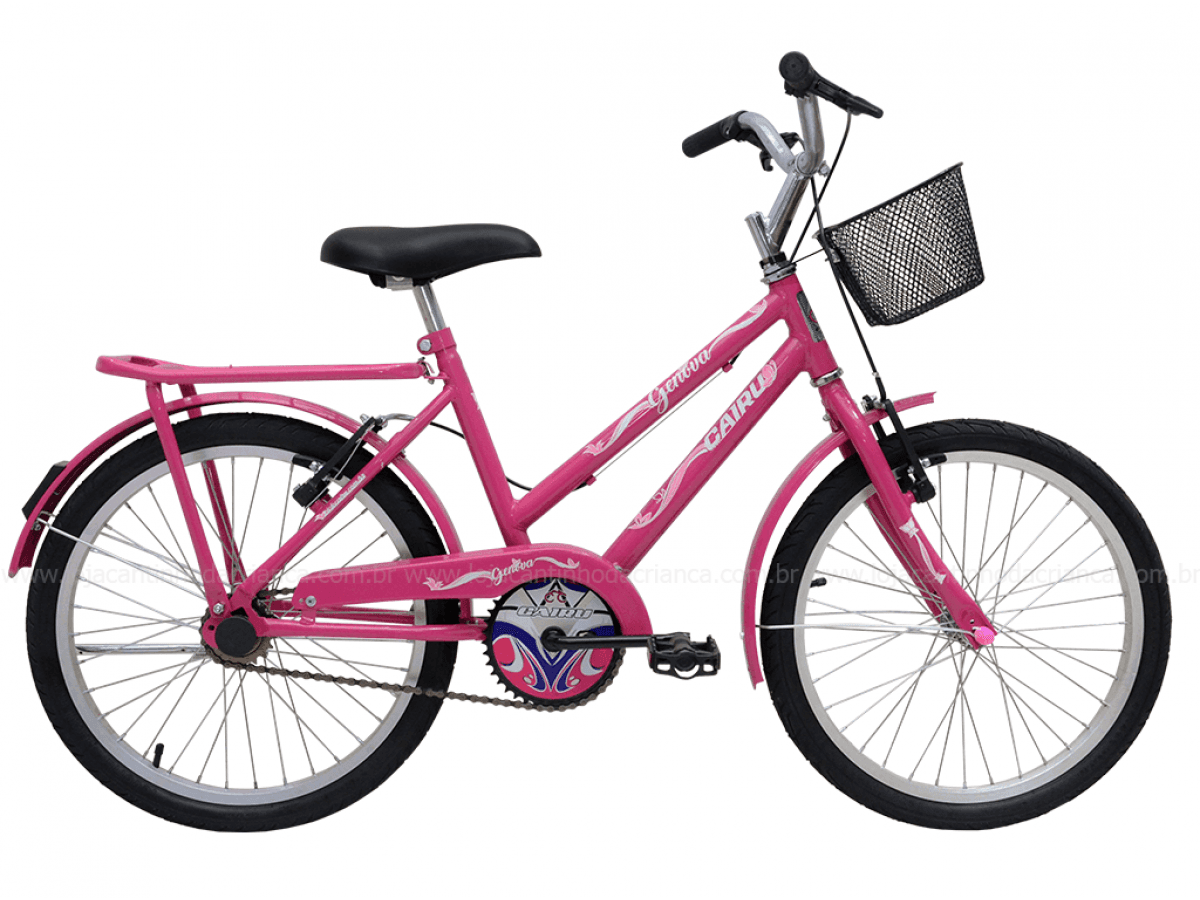 f1f5fcfc6 Bicicleta Aro 20 Com Garupa Genova Rosa Pink Cairu - Cantinho da ...
