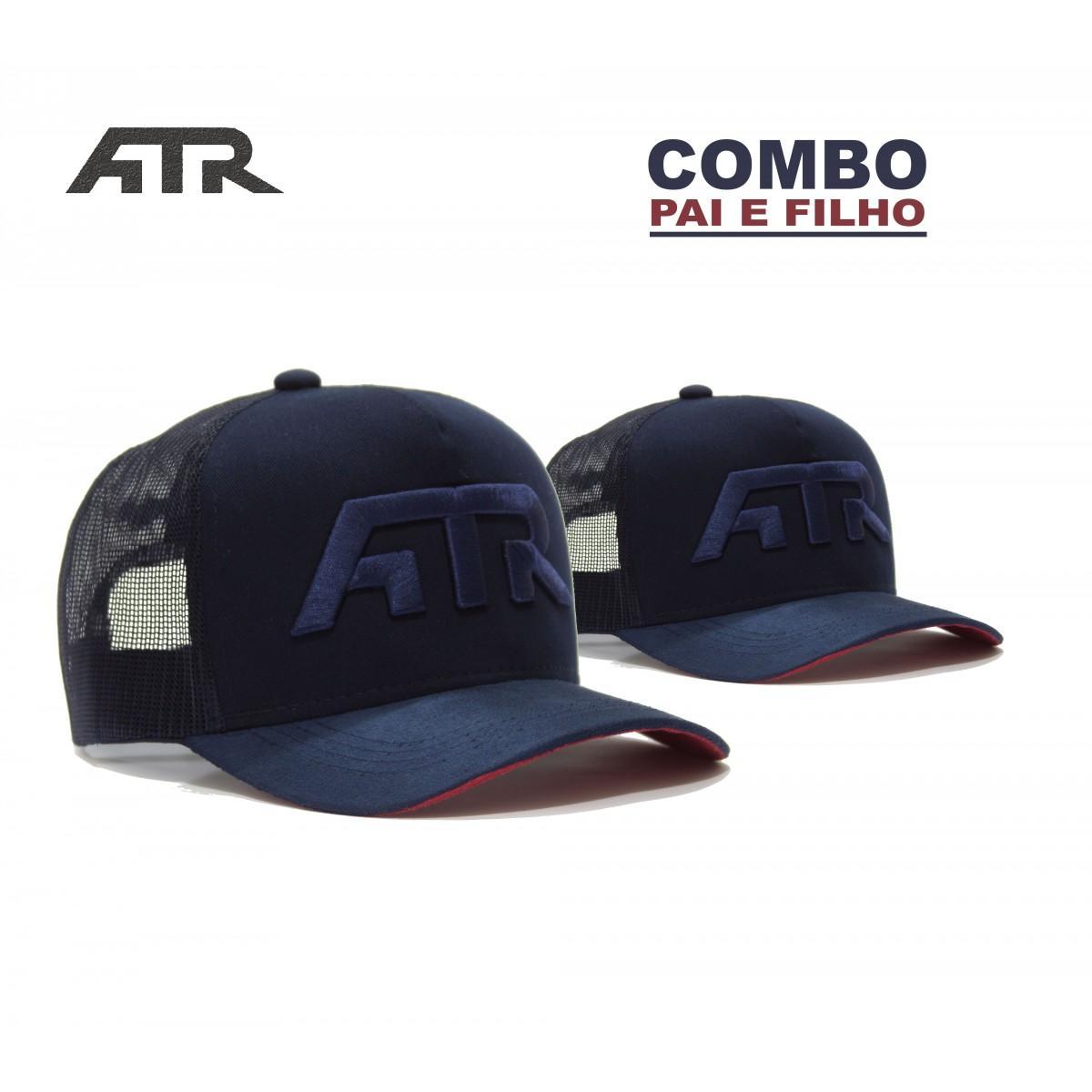 Combo Pai e Filho Boné ATR 2018 Azul Marinho - All Terrain Store f2c3839cd8e