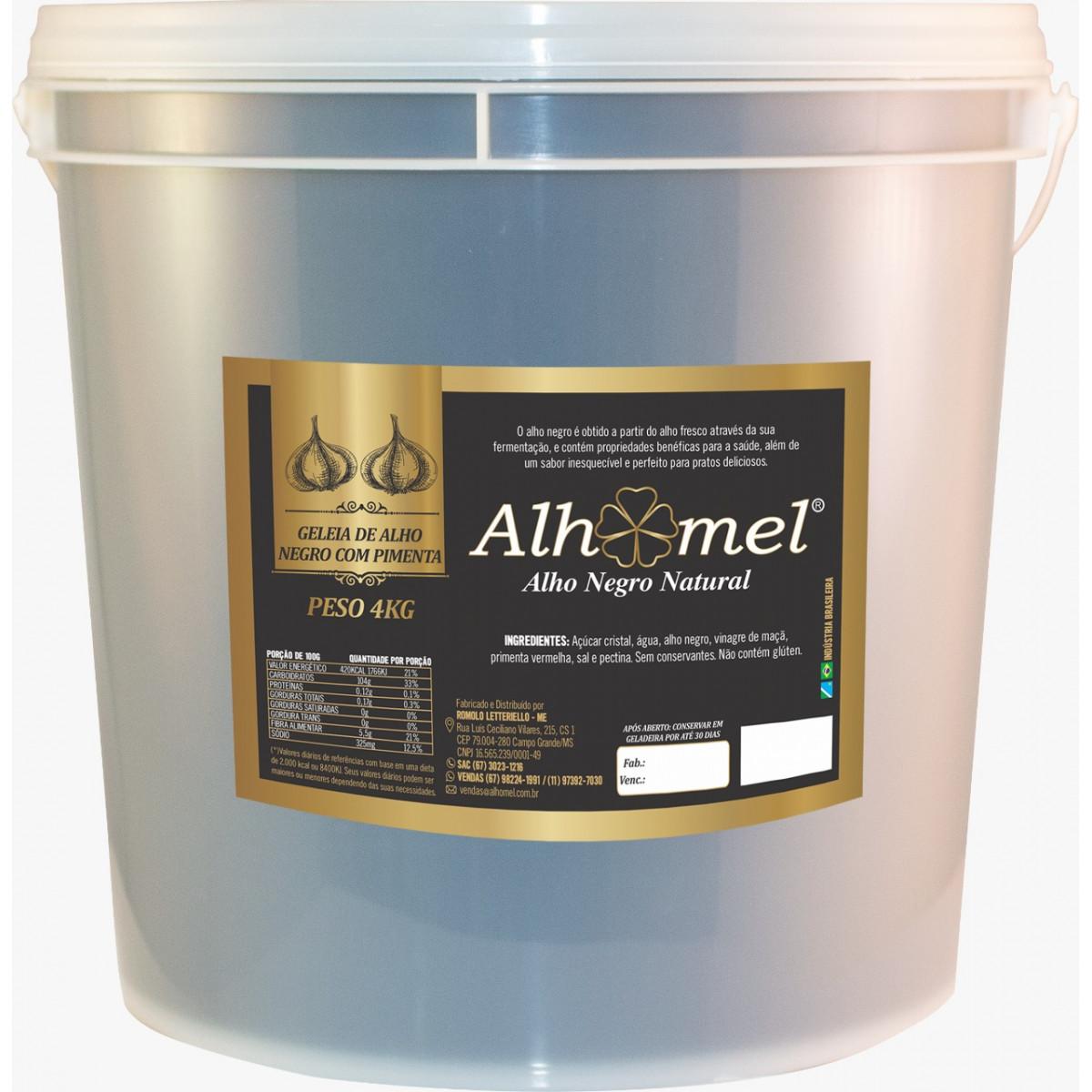 Geleia Alho Negro com Pimenta Balde 4 Kg