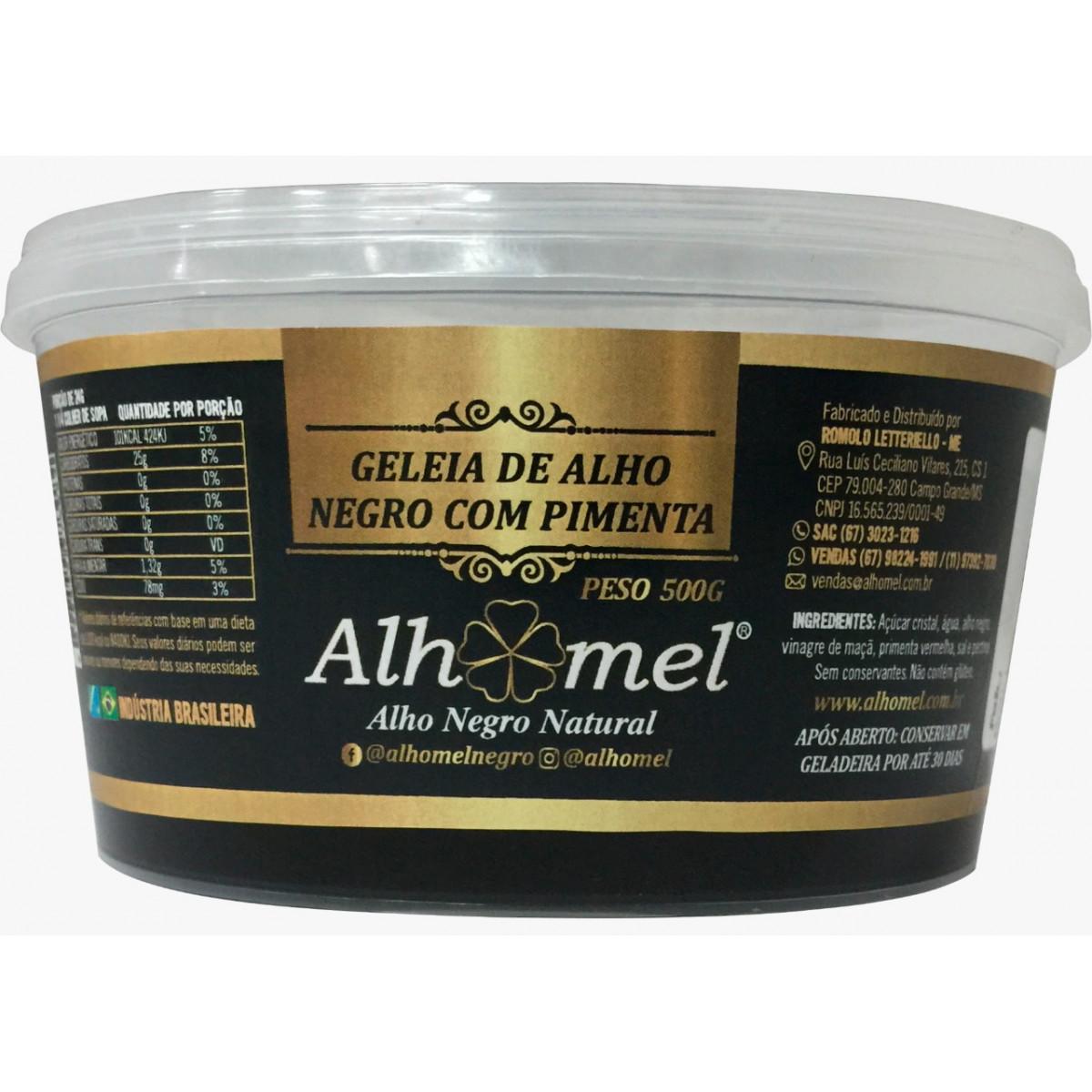 Geleia de Alho Negro com Pimenta 500 Gr