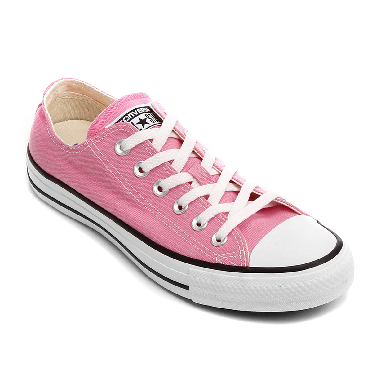 Tênis Converse All Star Ct As Core Ox - Rosa e Branco - Maria Majestade -  Tênis Personalizados b66cb43a70e