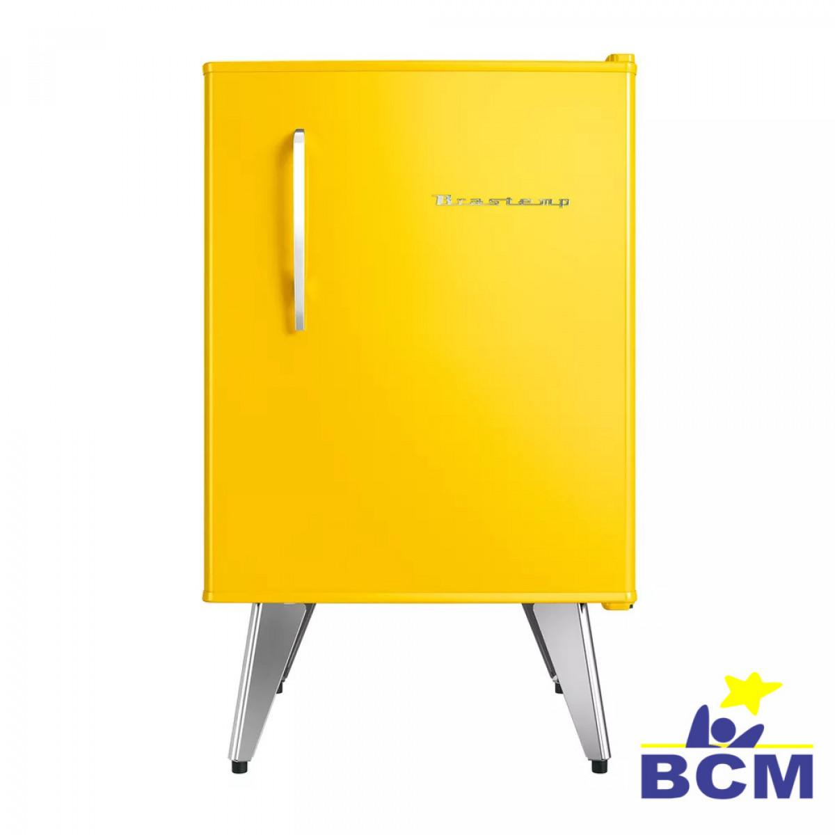 Frigobar Brastemp Retro 76L Amarelo - 110V