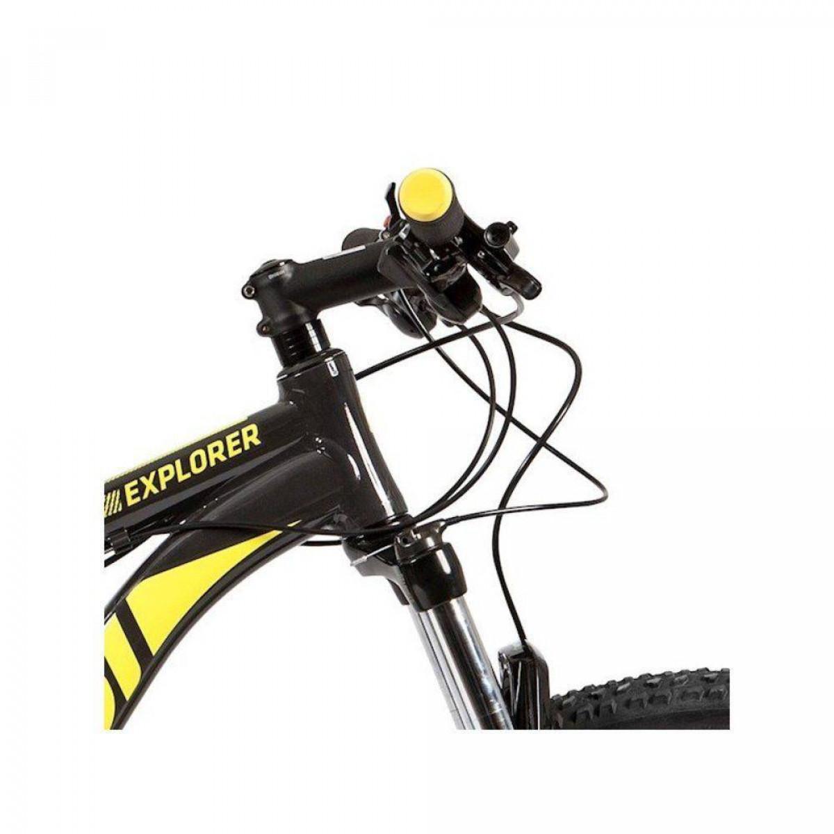 100b949d2 Bicicleta Caloi Explorer Comp 2019 Aro 29 Freio a Disco Hidráulico - Cinza  e Amarelo